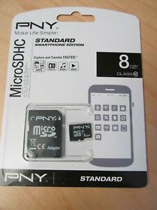 Genuine Genuine PNY 8GB Micro SD card with SHDC Adapter
