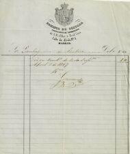 Documento Autografo di Domingo De Guevara Fornitore di Sombrero della Casa Reale