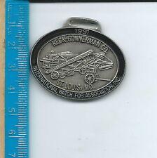 St. Louis, Mo, Vintage 1991 27th Shw Ab-090 - Iwfai Watch Fob Keck Gonnerman Co,