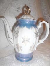 Vintage Hand-Painted Porcelain Blue & White LustreWare Japan Tea Pot TeaPot