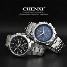 Stainless Steel Men`s 30m Waterproof 3 Decoration Dials Business Quartz Watches
