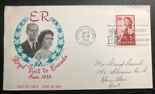 1959 Ottawa Canada first day cover Royal Visit Queen Elizabeth Ii To Hamilton