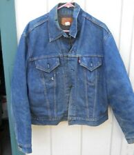 Vintage Levis 70'S Faded Blue Blanket Lined Denim 2 Pocket Jacket Sz X-Lrg (48)