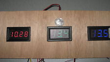 VERDE 12v VOLT VOLTMETRO a basso consumo energetico Tester Gauge PANNELLO CRUSCOTTO FURGONE BARCA SOLARE BICI
