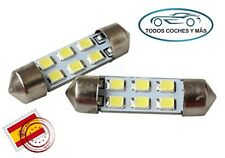 2 X BOMBILLAS LED COCHE FESTOON C5W 41MM 42MM 6 SMD 2835 INTERIOR MATRICULA