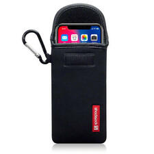 Shocksock Neoprene Pouch Sleeve Cover Case with Carabiner for iPhone X - Black