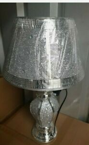 Crushed Crystal  LED Vase Lamp Bling sparkle Table Lamp Shade with free Led bulb