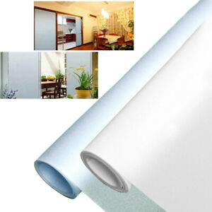Privacy Window Glass Film Sticker Static Cling Frosted Stained Bathroom Home