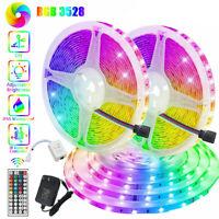 3528 SMD 49.2ft 32.8ft RGB LED Strip Light +44Key Remote+DC 12V Power Kit USCC