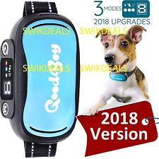 v.2018 BLUE GoodBoy Vibrating Shock Anti-Bark  Collar Rechargeable Waterproof jl