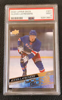 Alexis Lafreniere 2020-21 Upper Deck Young Guns #201 PSA 9 ~ NY RANGERS Card RC