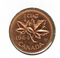 1964 Canadian Uncirculated Proof Like One Cent Coin!