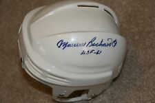 MAURICE RICHARD Autographed Montreal Canadiens Signed Mini Helmet Hockey w COA