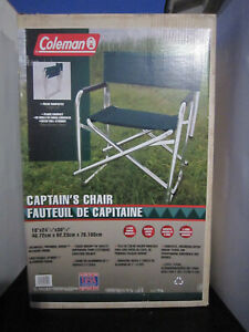 Coleman Captain's Camping Deck Chair C22 Brand New Vintage
