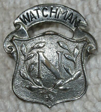 Vintage National Cash Register Watchman Hat Badge Early