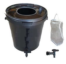 Fermenter Dünger- Komplett-Set 20L Schwarz : Filter, Hahn