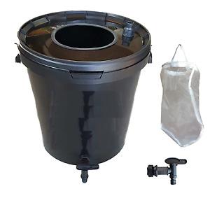 Fermenteur à purins Kit complet 30L noir : filtre, robinet.