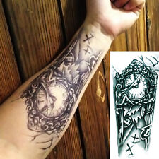 Large Sexy Tattoo Clock Design Arm Body Art Removable Waterproof Tattoo Sticker