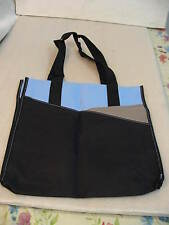 Leeds Canvas Tote/Shoulder Bag Blue/Black/Gray New in Plastic Bag