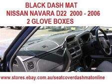 DASH MAT, BLACK DASHMAT TO SUIT NISSAN NAVARA 2000 - 2006 D22, BLACK