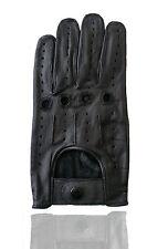 Driving Glove Genuine Leather Driving Riding Biking Trucking Fashion Small Black