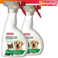 Beaphar 2 x 400 ML Ticks And Flea Protection Spray for Dogs and Cats