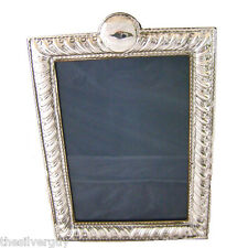 "LARGE ART NOUVEAU SILVER PICTURE FRAME WITH 7.5"" x 5.5"" sight area"