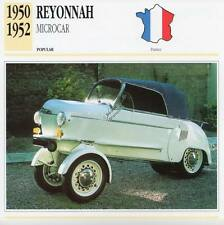 1950-1952 REYONNAH MICROCAR Classic Car Photograph / Information Maxi Card
