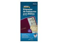 SPANISH BIBLE INDEXING TABS Old & New Testaments GOLD EDGED Tabbies 58340