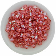 Swarovski Crystal 5328 XILION Bicones 4mm - LIGHT ROSE GOLDEN SHADOW (24 PCS)