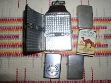 5 lighters camel-2 zippo-ronson case & lighter-champ from austria