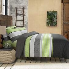 Topaz Green Cotton Doona Duvet Quilt Cover Queen Size With Pillowcases Set