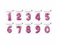 Rosa Aluminio Número Globos Para Fiestas Cumpleaños,Niños Fiestas Aniversario