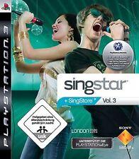 PLAYSTATION 3 SINGSTAR volume 3 * guterzust tedesco.
