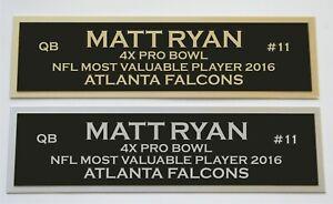 Matt Ryan nameplate for signed jersey football helmet or photo