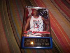 SHAQUILLE O'NEAL 1994 USA NBA BASKETBALL AUTOGRAPH SIGNED SKYBOX COA Plaque