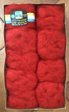 Sears Mohair Yarn  Red, Made In Italy lot of 9