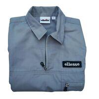 Vintage Grey ellesse Short Sleeve Shirt Size S