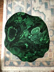New Chic One Of A Kind Malachite And Gold End Table
