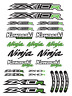 ZX-10R Ninja Motorcycle Racing Decals Stickers Fairing ZX10R ZXR Laminated /7