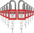 Lockout Tagout Safety Padlock Sets Keyed Alike 2 Keys per Lock - Premium Grade
