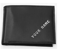 Wallet PERSONALISED leather ANY NAME PRINTED ON THE FRONT quality item. FOR HIM