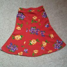 Vintage '90s The Children's Place Red Floral Midi Maxi Skirt Toddler Girls 2T