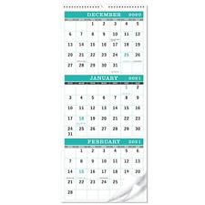 Calendar 2021-3-Month Display Wall Calendar Folded in a Month, Vertical Calendar