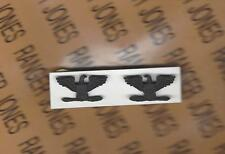 US ARMY COL COLONEL 0-6 rank uniform badge miniature set pair blacked