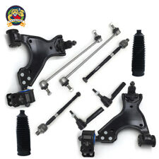 New 12pc Complete Front Suspension Kit Control Arms Ball Joints Tie Rod Ends