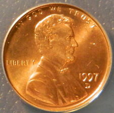 1997 D LINCOLN CENT ANACS MS 67 RED