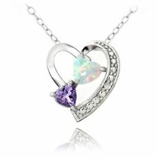 Unbranded White Sterling Silver Fine Necklaces & Pendants