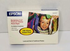 EPSON 4 x 6 Glossy 100 Sheets Premium Borderless Photo Paper For Inject Printers