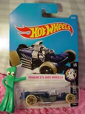 RIGOR MOTOR #59✰blue/gray;pr5✰FRIGHT CARS✰2017 i Hot Wheels Case C/D